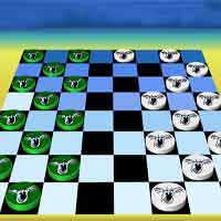 Free online flash games - Koala Checkers game - WowEscape