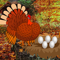 Free online flash games - Catch a Turkey and Eggs game - WowEscape