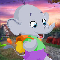 Free online flash games - G4K Cartoon Elephant Rescue game - WowEscape
