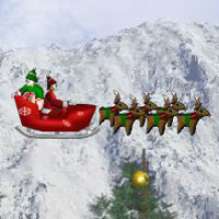 Free online flash games - Santa On his Way game - WowEscape