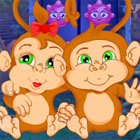 Free online flash games - G4K Pair Monkey Rescue Escape