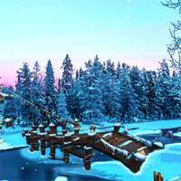 Free online flash games - Ena The Frozen Sleigh-A Bridge Over The River Esca game - WowEscape