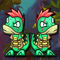 Free online flash games - Dino In The Forest game - WowEscape