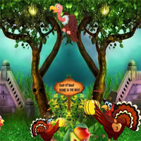 Free online flash games - Thanksgiving Release The Small Turkey game - WowEscape