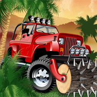 Free online flash games - Tropical Uphill Driver game - WowEscape