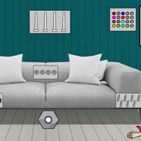 Free online html5 games - G2J Escape From Black And White House game