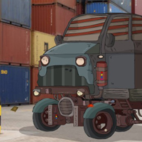 Free online flash games - GFG Restricted Container Yard Escape