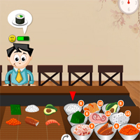 Free online flash games -  Much Sushi game - WowEscape