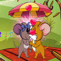 Free online flash games - Mr and Mrs Jerry Kissing game - WowEscape