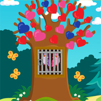 Free online html5 games - Games4Escape Love Birds Rescue game