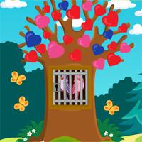 Free online flash games - Games4Escape Love Birds Rescue game - WowEscape