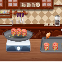 Free online flash games - Bacon Wrapped Shrimp Canapes game - WowEscape