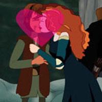 Free online flash games - Princess Merida Kissing game - WowEscape