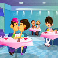 Free online html5 games - Coffee Shop Kissing game