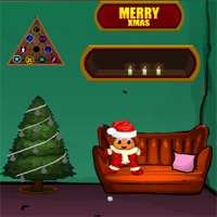 Free online flash games - Games4Escape Christmas Happy Door Escape game - WowEscape