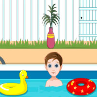 Free online flash games - Little Johny 3 Swimming Pool Escape game - WowEscape