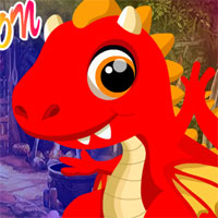 Free online flash games - Red Fire Dragon Escape game - WowEscape