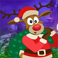 Free online flash games - G4k Christmas Deer Rescue
