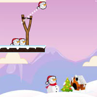 Free online flash games - X-Mas Slingshot Fun game - WowEscape
