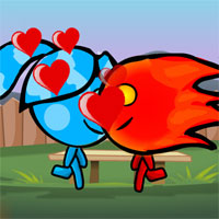 Free online flash games - Water Girl and Fire Boy Kissing game - WowEscape