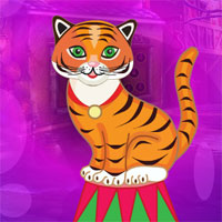 Free online flash games -  G4K Comely Circus Tiger Escape