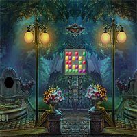 Free online flash games - Palace Backyard Escape game - WowEscape