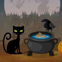 Free online flash games - Hiddenogames Hidden Halloween Forest game - WowEscape