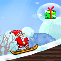 Free online flash games - Super Santa Skiing game - WowEscape
