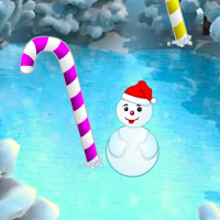 Free online flash games - Christmas Candy Cane Forest Escape game - WowEscape