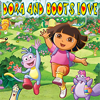 Free online flash games - Dora And Boots Love game - WowEscape