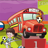 Free online flash games - Euro Soccer Bus Parking game - WowEscape