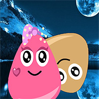 Free online flash games - Pou And Princess Night Adventure game - WowEscape