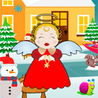 Free online flash games - Avm Cute Snow Angel Escape game - WowEscape