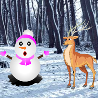 Free online flash games - Hidden Snow Forest game - WowEscape