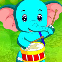Free online flash games -  G4K Blue Elephant Escape
