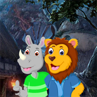 Free online flash games - Games4King Lion And Rhinoceros Embracing Escape game - WowEscape