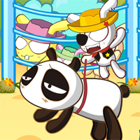 Free online flash games - Panda Rodeo Dhgaming game - WowEscape