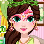 Free online flash games - Fairy Face Painting Design game - WowEscape