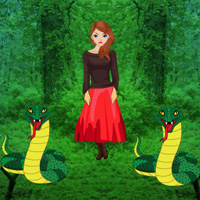 Free online flash games - Rescue Girl from Snakes game - WowEscape