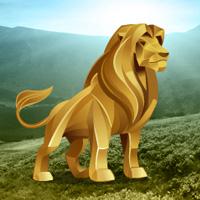 Free online flash games - Big Gold Lion Land Escape game - WowEscape
