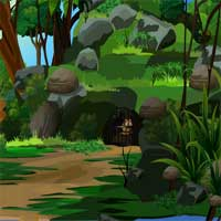Free online flash games - Rescue the Lion From Forest Cave game - WowEscape