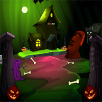 Free online flash games - MirchiGames Find Spooky Treasure Pumpkin House game - WowEscape