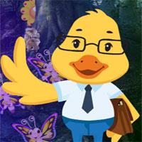 Free online flash games - G4K Cartoon Duck Teacher Escape  game - WowEscape