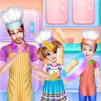 Free online flash games - Daddy Cooking Time game - WowEscape