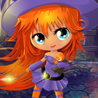 Free online flash games - G4K Lovely Witch Girl Escape game - WowEscape