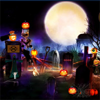 Free online flash games - Top10NewGames Halloween Cemetery Escape game2rule
