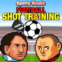 Free online flash games - Sports Heads Football Shot Training game - WowEscape