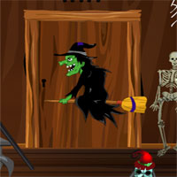Free online flash games - G4E Halloween Witch Door Escape game - WowEscape