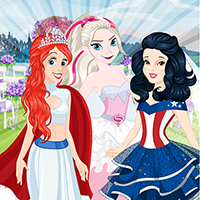 Free online flash games - Princess Superhero Wedding game - WowEscape