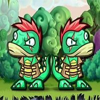 Free online flash games - Double Dino Adventure 3 game - WowEscape
